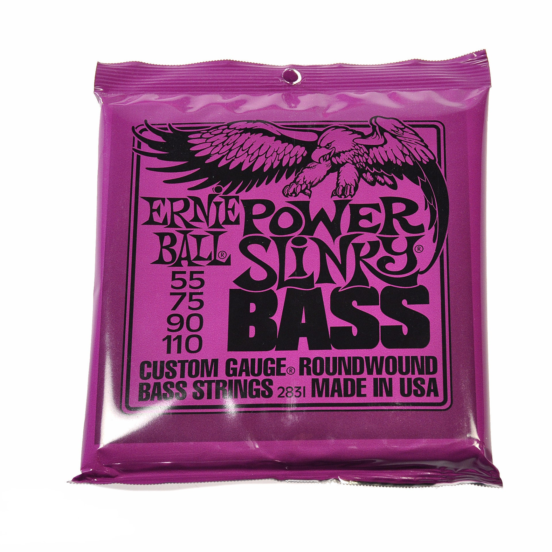 ernie ball power slinky bass strings roundwound set 55 110 chicago music exchange. Black Bedroom Furniture Sets. Home Design Ideas