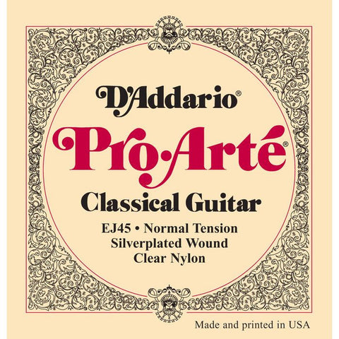 D'Addario EJ45 Pro-Arte Classical Guitar Strings Normal Tension