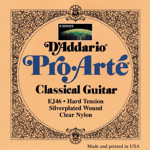 D'Addario EJ46 Pro-Arte Classical Guitar Strings Hard Tension