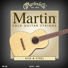 Martin M130 Folk Guitar Silk and Steel Compound Wound Acoustic Strings 11.5-47