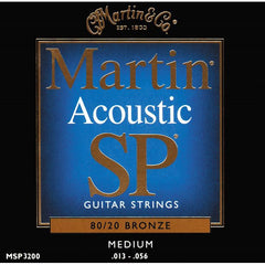 Martin MSP3200 SP 80/20 Bronze Medium Acoustic Guitar Strings 13-56