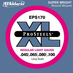 D\'Addario ProSteels EPS170 Regular Light Long Scale Bass Strings 45-100