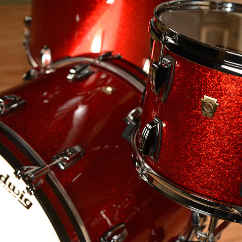 Ludwig 13/16/22 Classic Maple 3pc Kit Red Sparkle