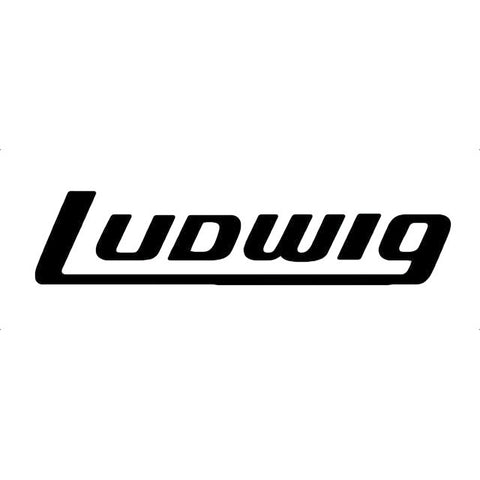 Ludwig Large Black Logo Decal