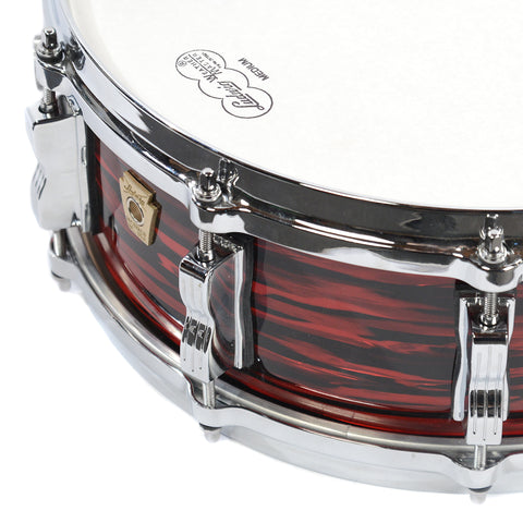 Ludwig 5x14 Classic Maple Snare Drum w/P86, Tone Control, & Die Cast Hoops Red Oyster