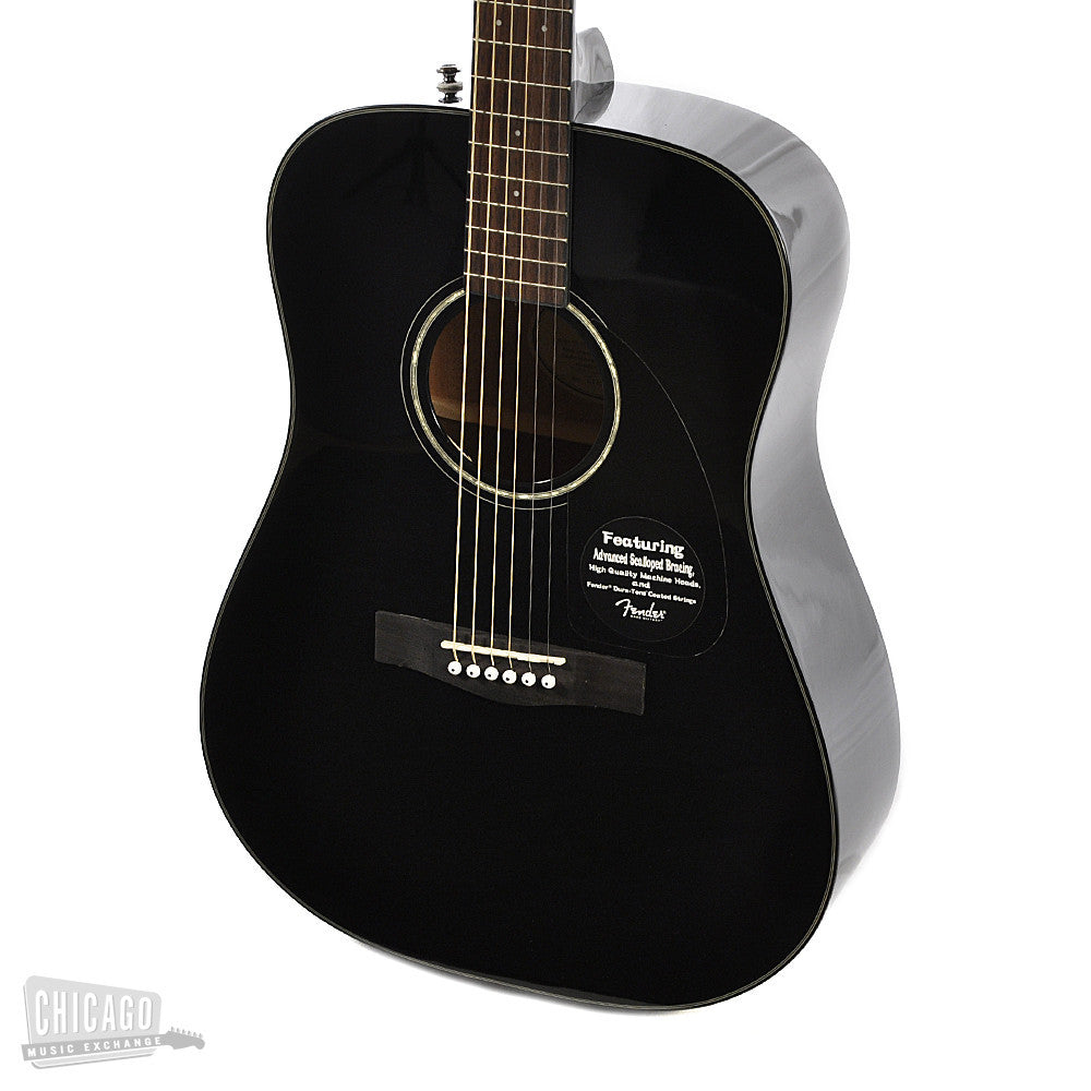 fender cd 60 acoustic black chicago music exchange. Black Bedroom Furniture Sets. Home Design Ideas