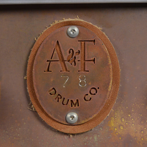 A&F Drum Co. 4x14 Raw Brass Snare Drum (Limited Edition)