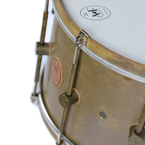 A&F Drum Co. 9x14 Raw Brass Snare Drum
