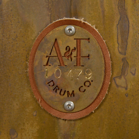 A&F Drum Co.13/16/22 3pc Royal Elite Engraved Brass Drum Kit w/Walnut Hoops