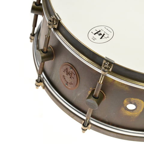 A&F Drum Co. 5.5x14 Raw Brass Snare Drum