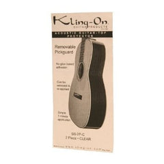 Kling-On SS-2P-C Static Cling 2-Piece Pickguard for Steel Acoustic Clear