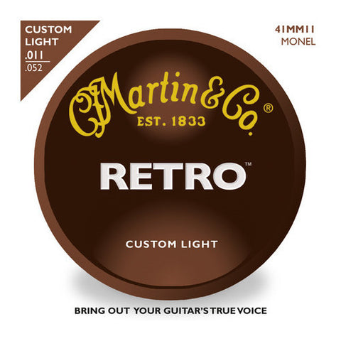 Martin MM11 Retro Acoustic Guitar Strings Custom Light 11-52