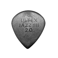 Dunlop Ultex Jazz III Black 2.0 Guitar Picks (6)