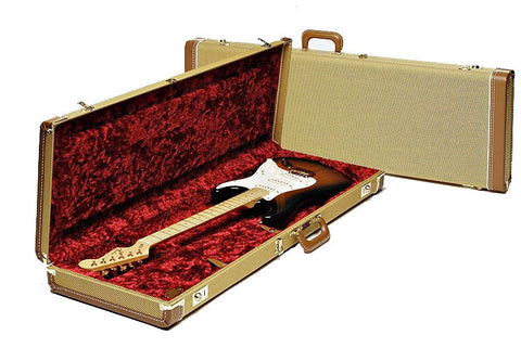 Fender Strat/Tele Deluxe Tweed Case with Red Liner