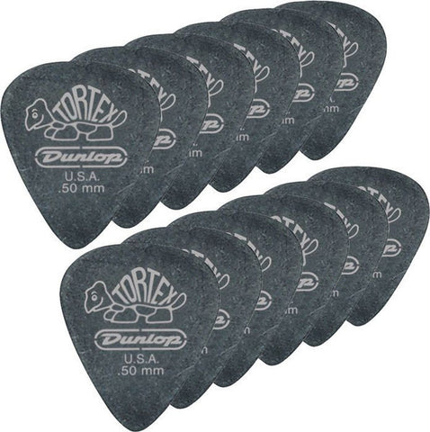 Dunlop Tortex Pitch Black Standard .50mm (12)