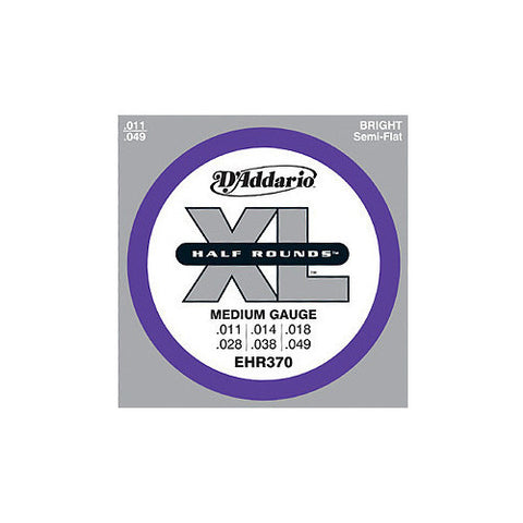 D'Addario EHR370 Half Round Medium Electric Guitar Strings 11-49