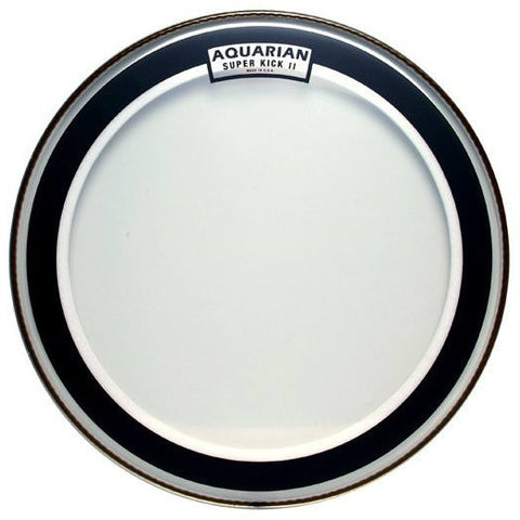 Aquarian 18 Inch Super Kick II Clear Bass Drum Head