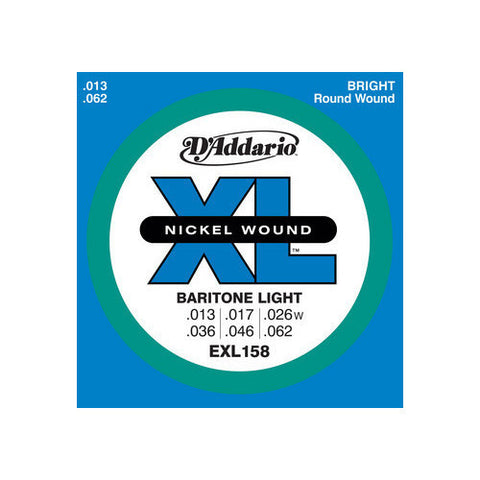 D'Addario EXL158 Electric Baritone Light Guitar Strings 13-62