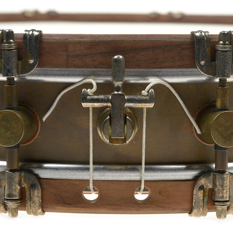A&F Drum Co. 3.5x15 Raw Brass Snare Drum w/European Walnut Hoops (Limited Edition)