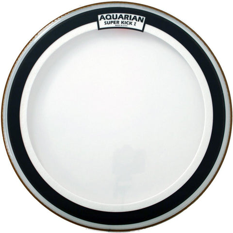 Aquarian 20 Inch Super Kick I Clear Single Ply Bass Drum Head