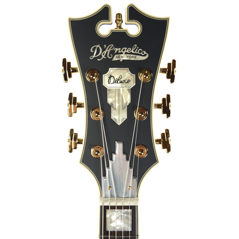 D'Angelico Deluxe 175 Hollow Single Cutaway Matte MIdnight