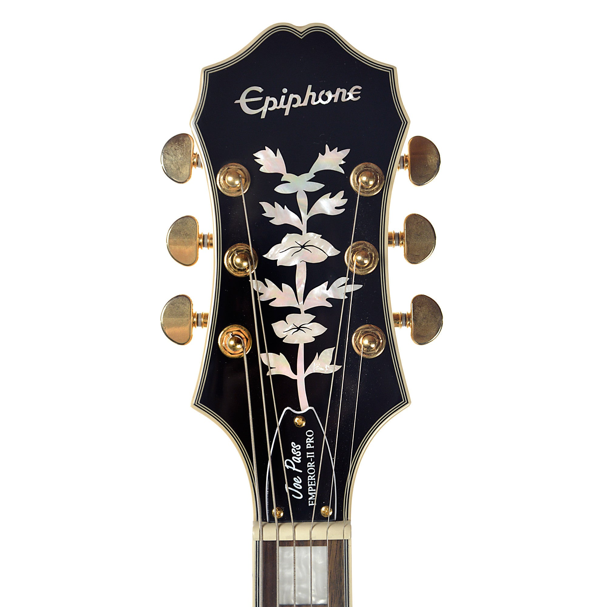 epiphone joe pass emperor ii pro natural gh w probuckers coil tap chicago music exchange. Black Bedroom Furniture Sets. Home Design Ideas