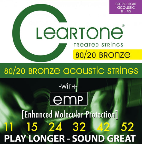 Cleartone Custom Light Gauge 80/20 Bronze Coated Acoustic Strings