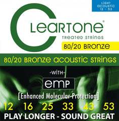 Cleartone Light Gauge 80/20 Bronze Coated Acoustic Strings