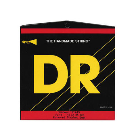 DR Strings FL-45 Hi-Beam Flatwound Bass 45-105
