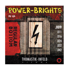 Thomastik PB109 Power Brights Round Wound Light 9-42