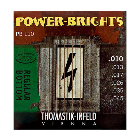 Thomastik PB110 Power Brights Round Wound Medium Light 10-45