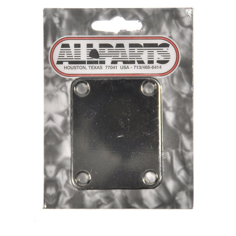 Allparts Neckplate for Fender (4 Holes) - Nickel