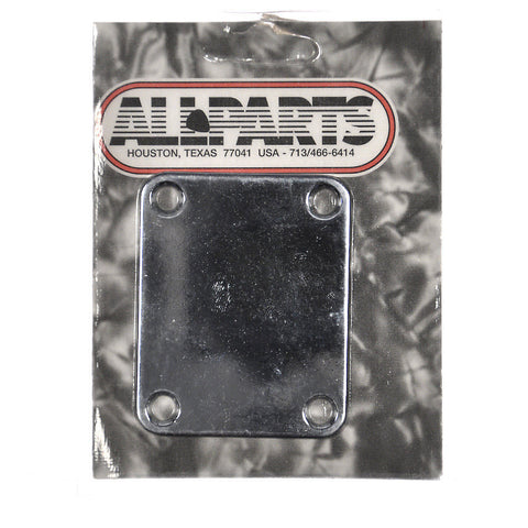 Allparts Neckplate for Fender (4 Holes) - Chrome