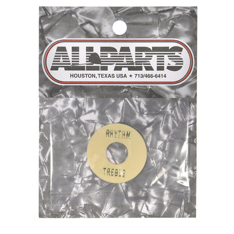 Allparts Rhythm/Treble Ring - Cream Plastic