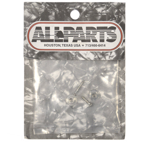 Allparts Pair of Round String Guides - Nickel