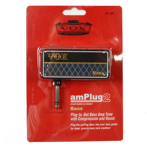 Vox amPlug G2 Bass Headphone Amplifier w/Gain Control