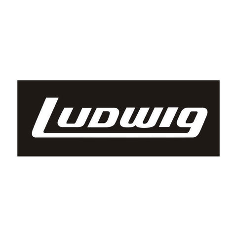 Ludwig White Bass Drum Logo Sticker