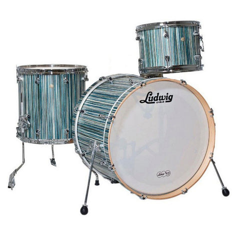 Ludwig Signet 105 GigaBeat 12/14/20 3pc Drum Kit Alpine Blue
