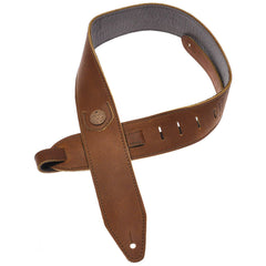 Copperpeace Homerun Guitar Strap - Brown Baseball Leather