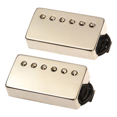 Bare Knuckle The Mule Humbucker Pickup Set 50mm 4-Conductor Short Leg Unpotted Raw Nickel