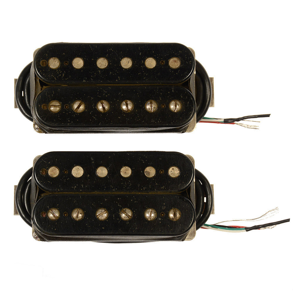 bare knuckle the mule humbucker pickup set 50mm 4 conductor short leg unpotted aged black. Black Bedroom Furniture Sets. Home Design Ideas