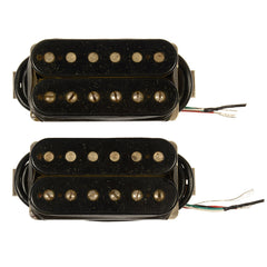 Bare Knuckle The Mule Humbucker Pickup Set 50mm 4-Conductor Short Leg Unpotted Aged Black