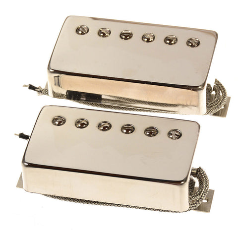 Bare Knuckle Stormy Monday Humbucker Pickup Set 50mm 2-Conductor Long Leg Potted Nickel