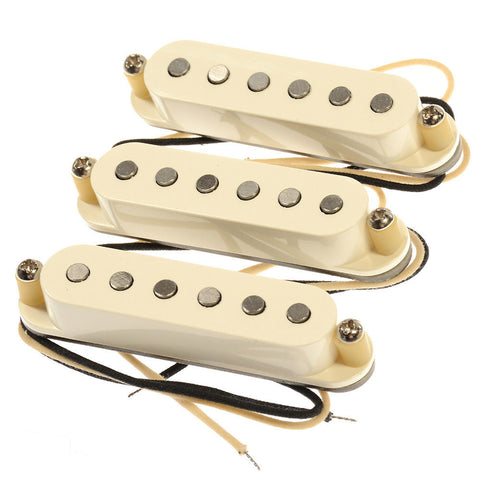Bare Knuckle Irish Tour Strat Single Coil Pickup Set Flat Profile RW/RP Parchment