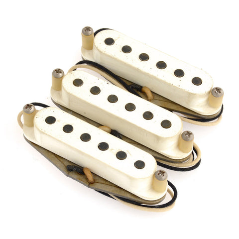 Bare Knuckle Mother's Milk Strat Single Coil Pickup Set Flat Profile RW/RP Aged Parchment