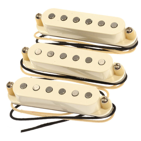 Bare Knuckle Mother's Milk Strat Single Coil Pickup Set Flat Profile RW/RP Parchment