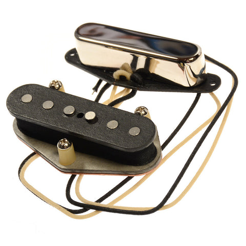 Bare Knuckle Brown Sugar Tele Single Coil Pickup Set Nickel