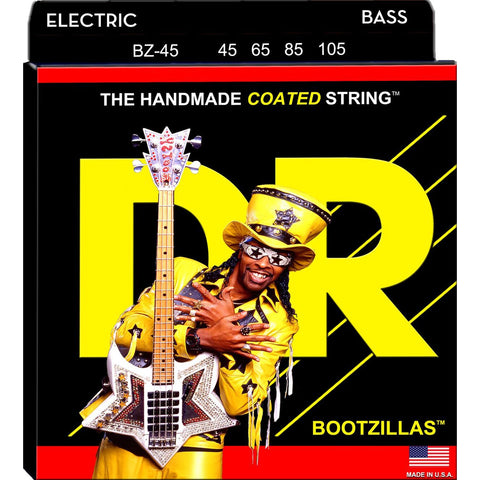 DR Strings BZ-45 Bootzilla Signature Extra Life Stainless Steel Bass Strings 45-105