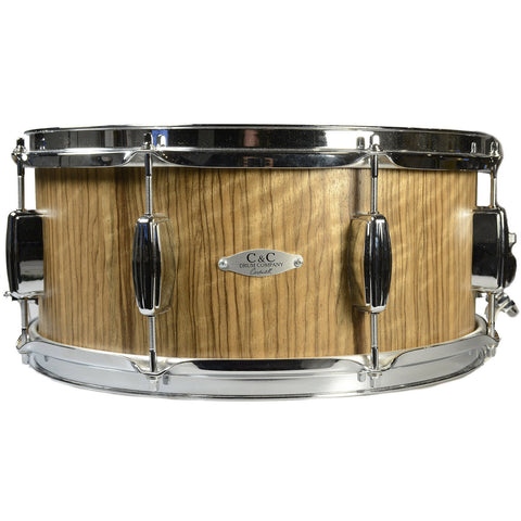 C&C 6.5x14 Maple 7+7 Snare Drum Black Limba Veneer
