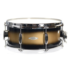C&C 6.5x14 Maple/Gum Snare Drum High-Gloss Black & Gold Duco